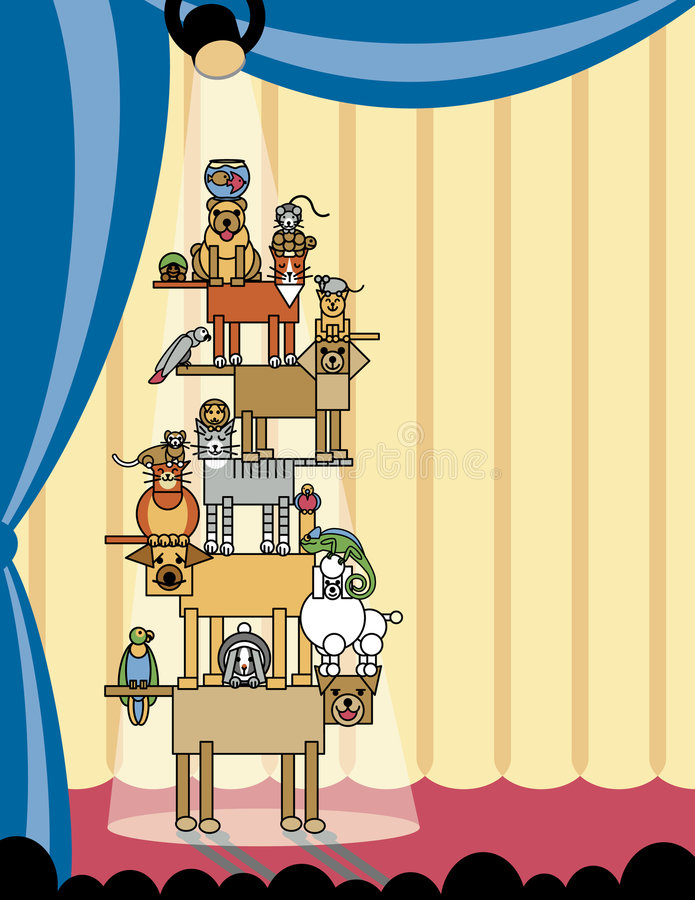 Akrobatisches Haustier-Stufe Recht vektor abbildung