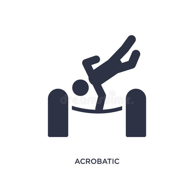 akrobatisk symbol på vit bakgrund Enkel beståndsdelillustration från magiskt begrepp vektor illustrationer