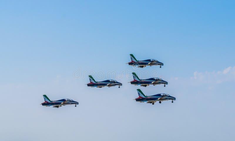 Akrobatiskt lag för italienskt flygvapen arkivfoto