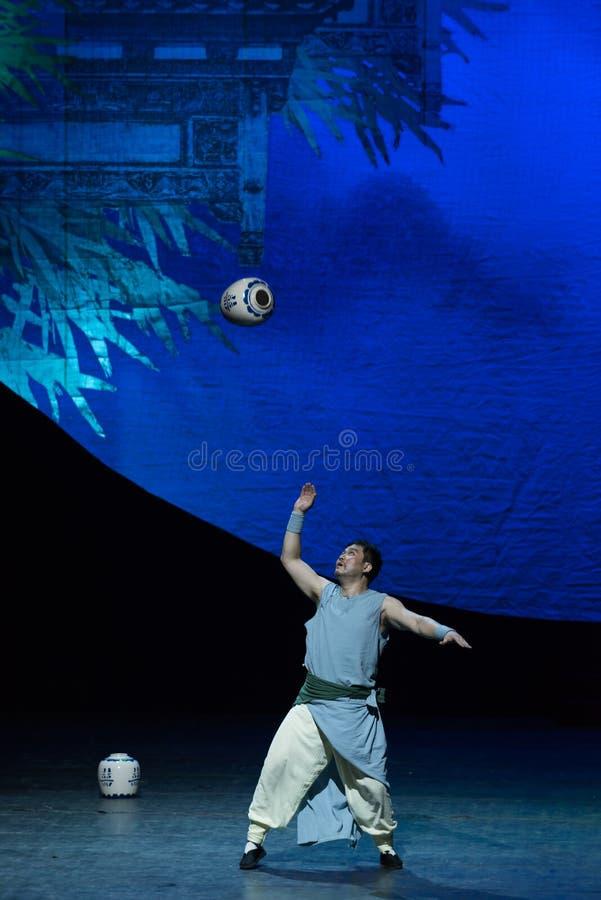 akrobatyczna showBaixi sen noc fotografia royalty free