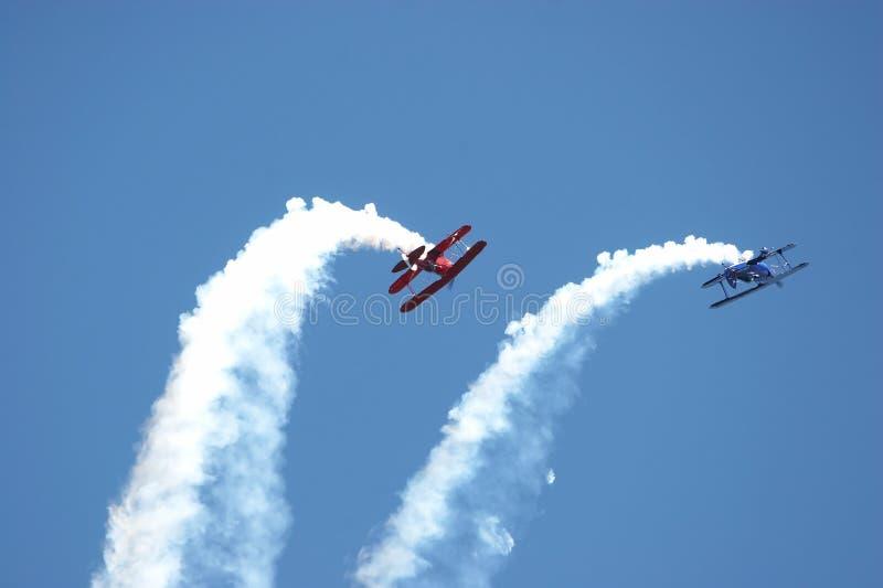 akrobatyczni samoloty. zdjęcie royalty free