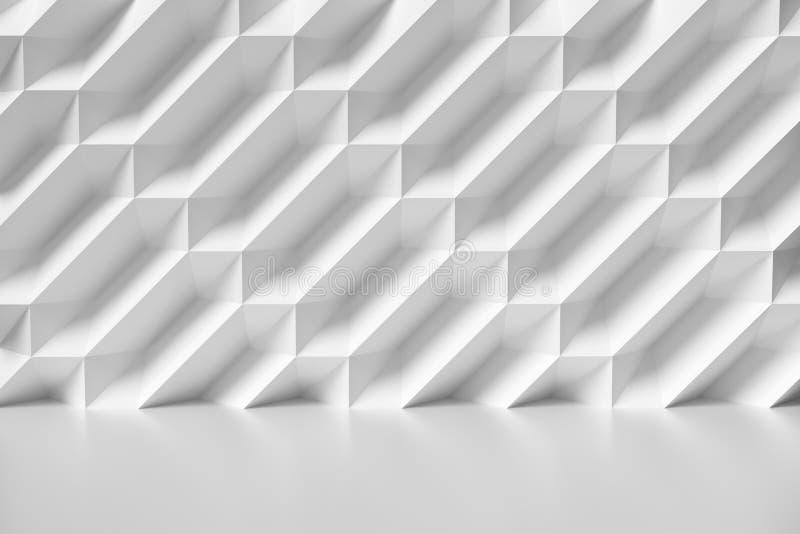 Akromatisk illustration för abstrakt vägg för vitt rum stock illustrationer