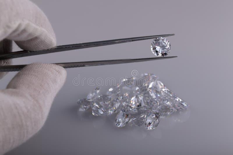 Akromatiska gemstones royaltyfria foton