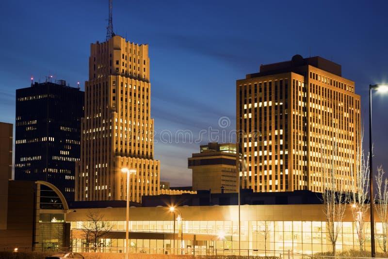 akron ohio horisont fotografering för bildbyråer