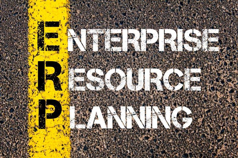 Akronimu ERP - przedsięwzięcie zasoby planowanie obrazy stock