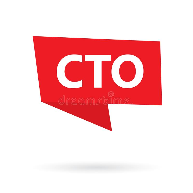 Akronym CTO Chief Technology Officer auf einem Aufkleber vektor abbildung