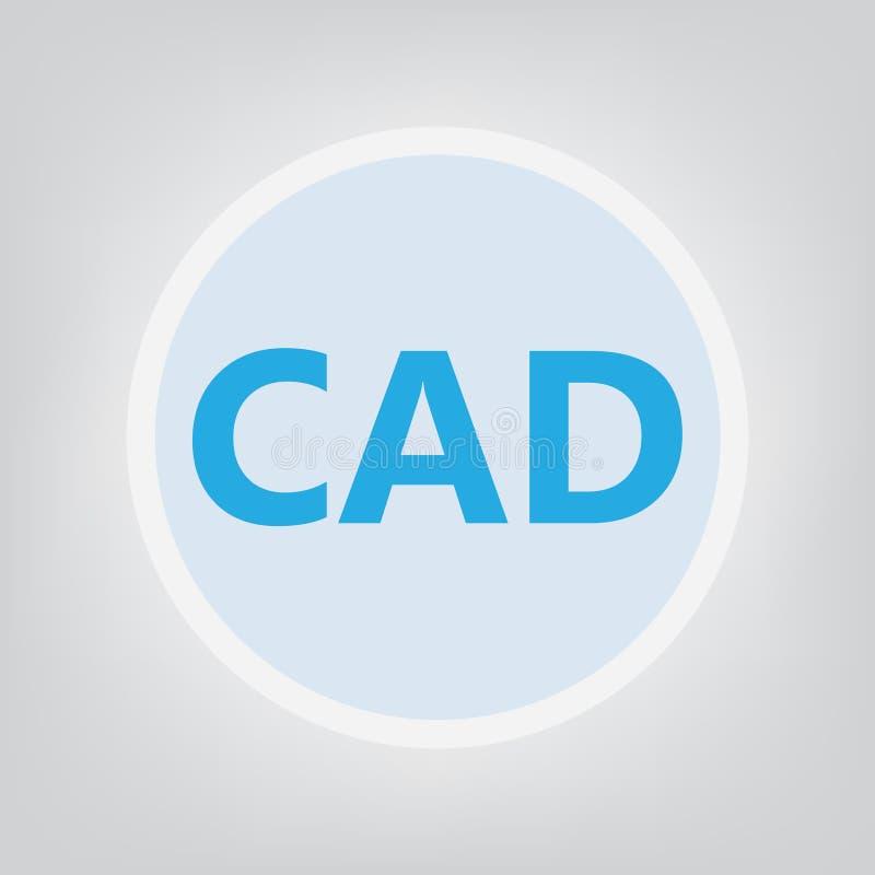 Akronym för datastödd design för CAD royaltyfri illustrationer