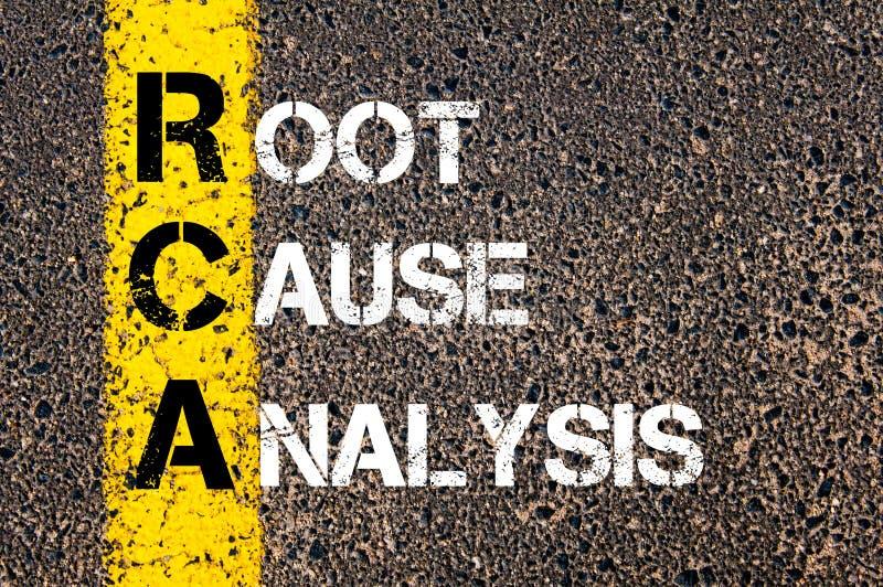 Akronym RCA - grundorsakanalys royaltyfri foto