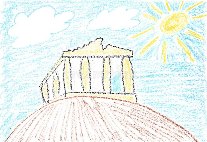 akropol royalty ilustracja