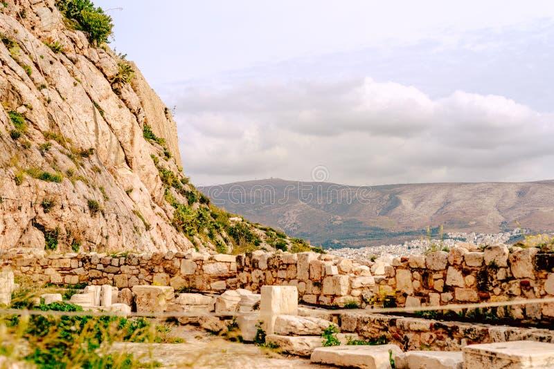 Akropol Ateny, architektoniczny zabytek, atrakcja turystyczna zdjęcie royalty free