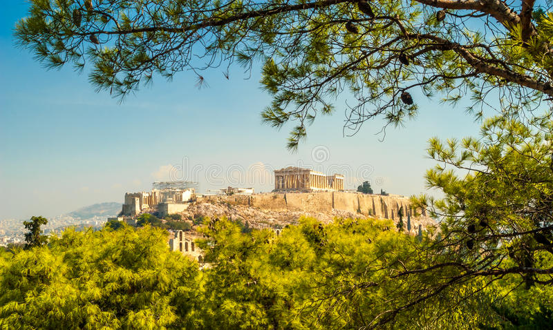 Akropol av Aten royaltyfri foto