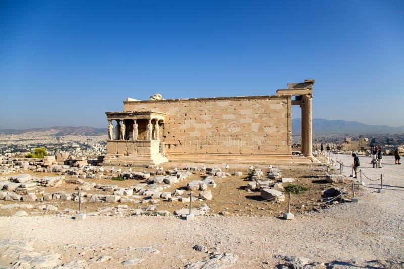 Akropol av Aten. Erechtheion arkivbild