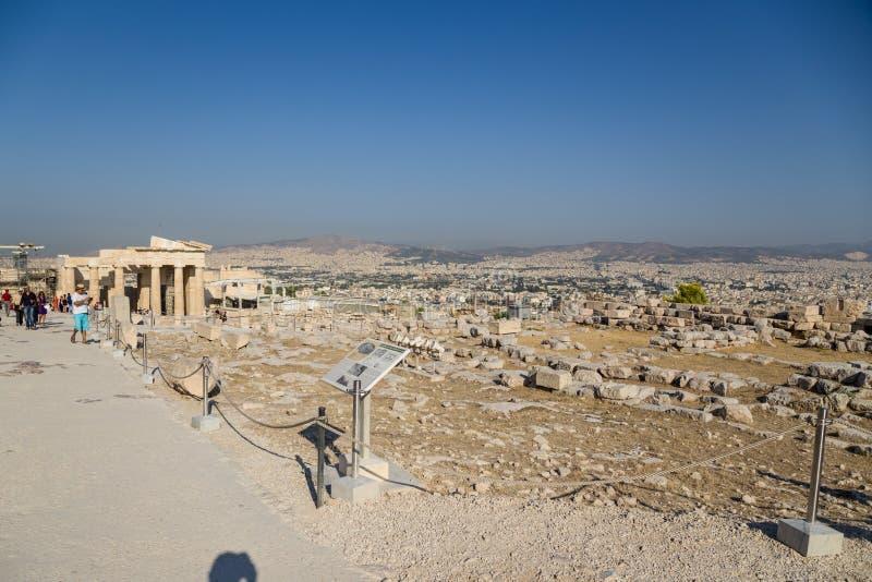 Akropol av Aten. Erechtheion royaltyfria bilder