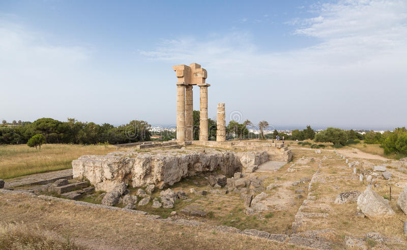 Akropol av den Rhodes staden, Grekland arkivbilder