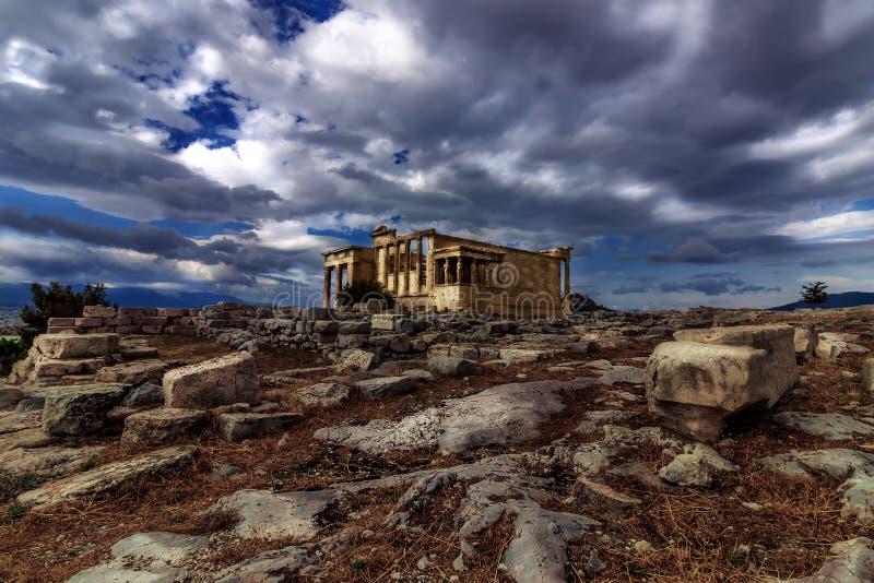 Akropol Erechtheion, Ateny - zdjęcie stock