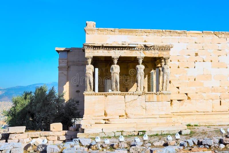 Akropol, Erechtheum świątynia w Ateny, Grecja obrazy royalty free