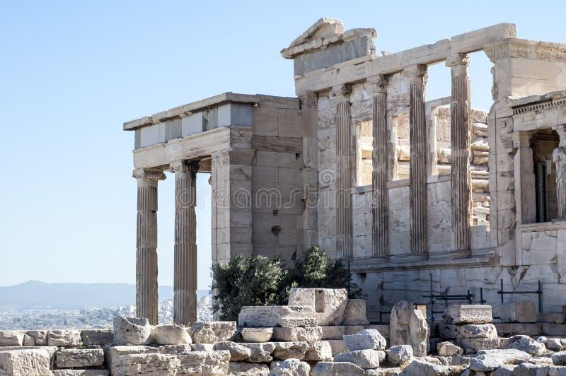 Akropol - Erechtheum świątynia w Ateny fotografia royalty free