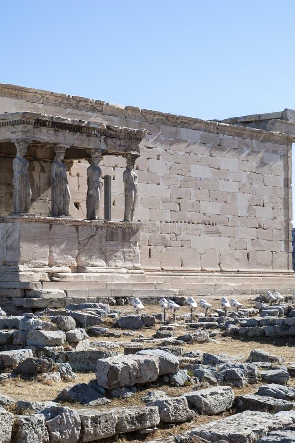 Akropol - Erechtheum świątynia w Ateny zdjęcia stock