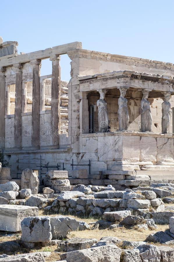 Akropol - Erechtheum świątynia w Ateny zdjęcie royalty free