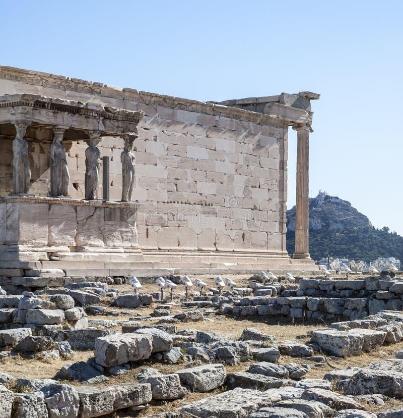 Akropol - Erechtheum świątynia w Ateny zdjęcia royalty free