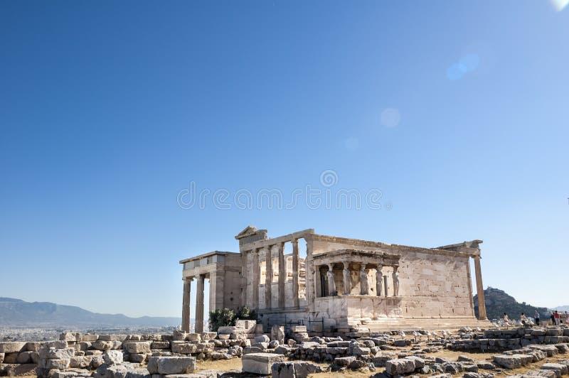 Akropol - Erechtheum świątynia w Ateny zdjęcie stock
