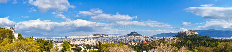 Akropol i Aten, Grekland arkivbild