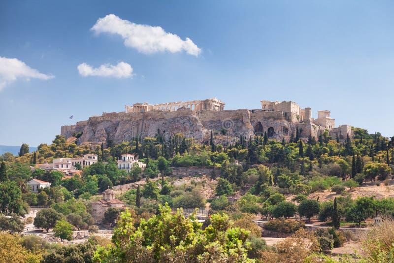 Akropol i Aten, Grekland arkivbilder