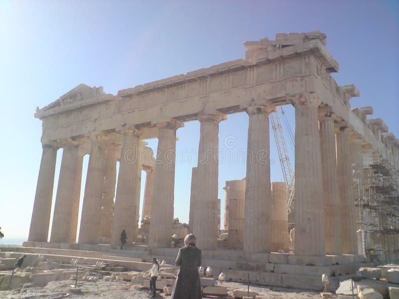 Akropolis - Athena - Grécia - panteão fotografia de stock royalty free