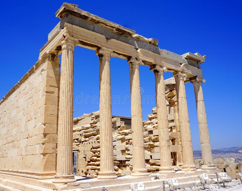 Akropolis in Athene stock foto's