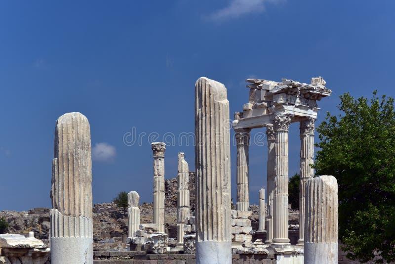 Akropolis des Pergamons stockbilder