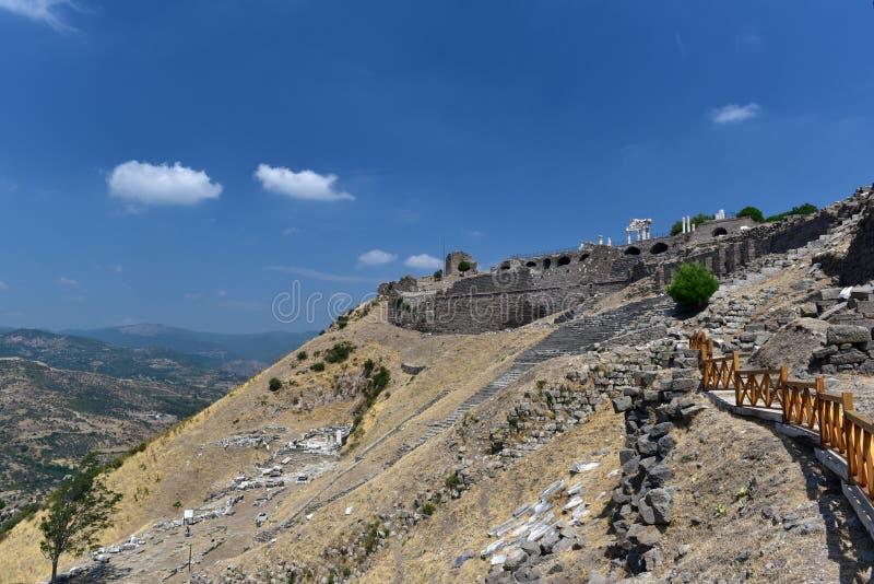 Akropolis des Pergamons stockfotos