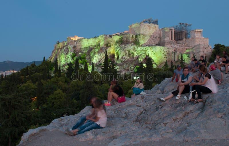 Akropolis, Parthenon Athene stock foto
