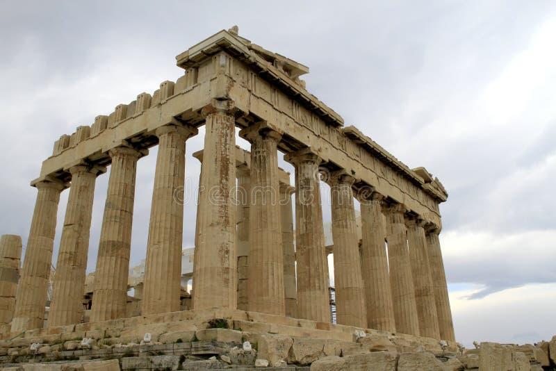 Akropolis Parthenon in Athene, Griekenland royalty-vrije stock afbeelding