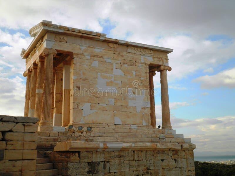 Akropolis-Tempel Athen Griechenland stockbild