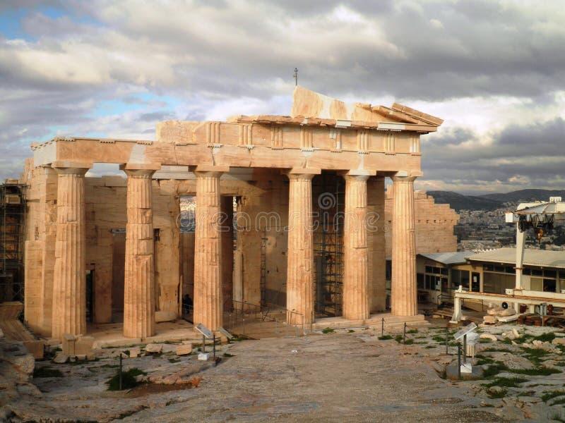 Akropolis-Tempel Athen Griechenland stockbilder