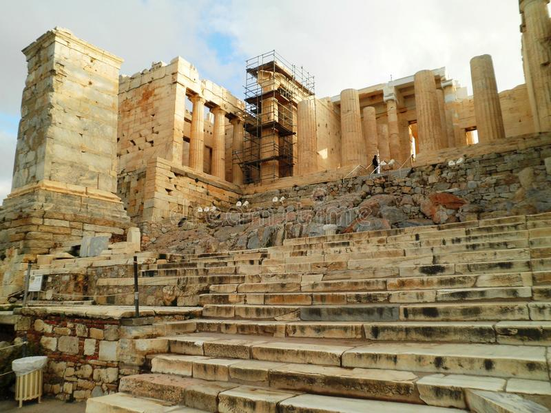Akropolis-Tempel Athen Griechenland lizenzfreies stockbild