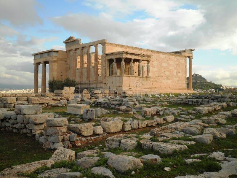 Akropolis-Tempel Athen Griechenland stockfotografie