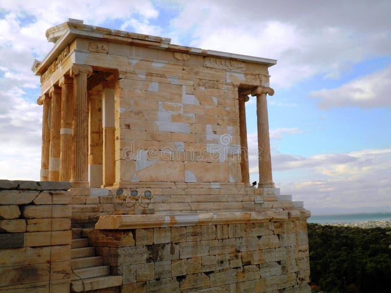 Akropolis-Tempel Athen Griechenland lizenzfreie stockbilder