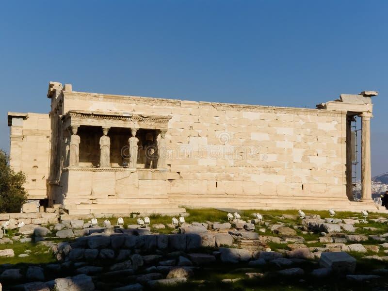 Akropolis van Athen met Tempel Parthenon stock foto