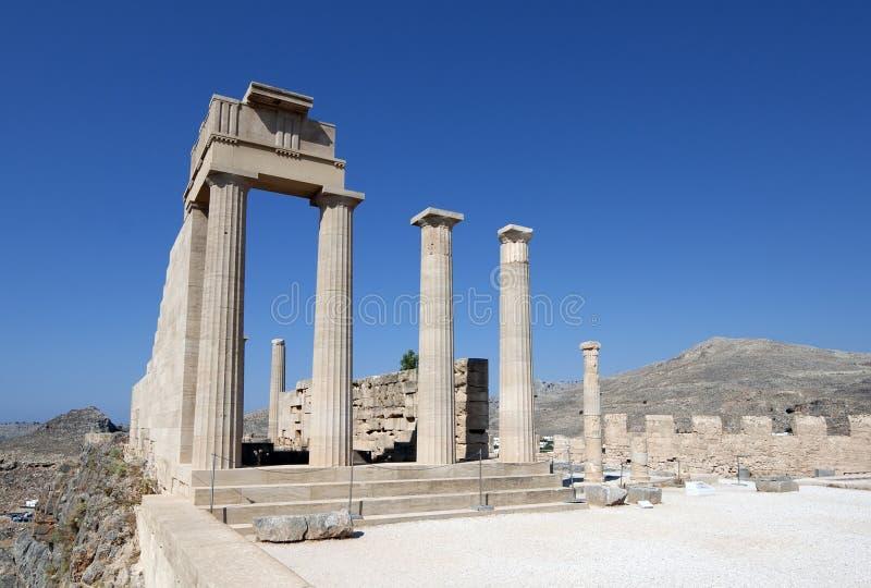 Akropolis van Lindos royalty-vrije stock afbeelding