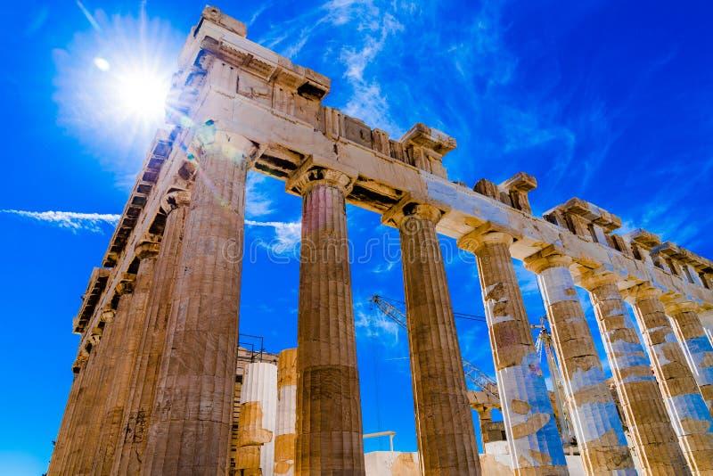 Akropolis von Athen Griechenland stockfotos