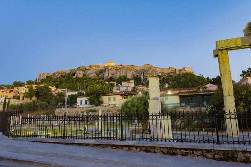 akropolis zijaanzicht in de zomer royalty-vrije stock fotografie