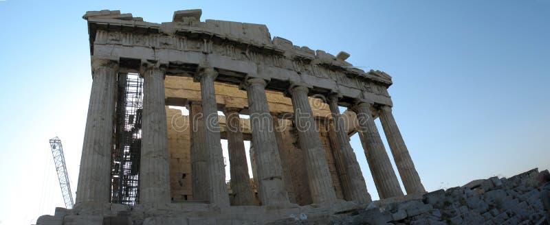 Akropolisfassadeansicht stockfotografie