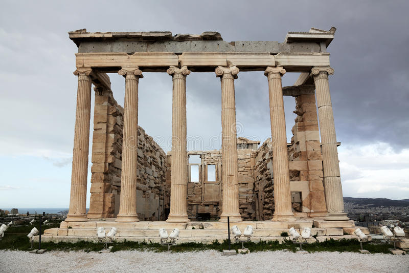 Download Akropolu Antyczna Erechtheum świątynia Obraz Stock - Obraz złożonej z akropol, sławny: 13325519