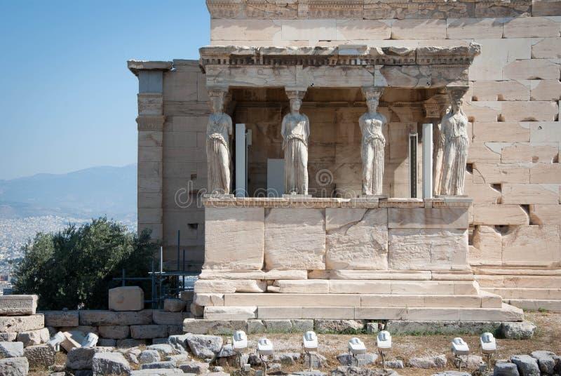 akropolu atheens kariatyd Greece ganeczek obrazy royalty free