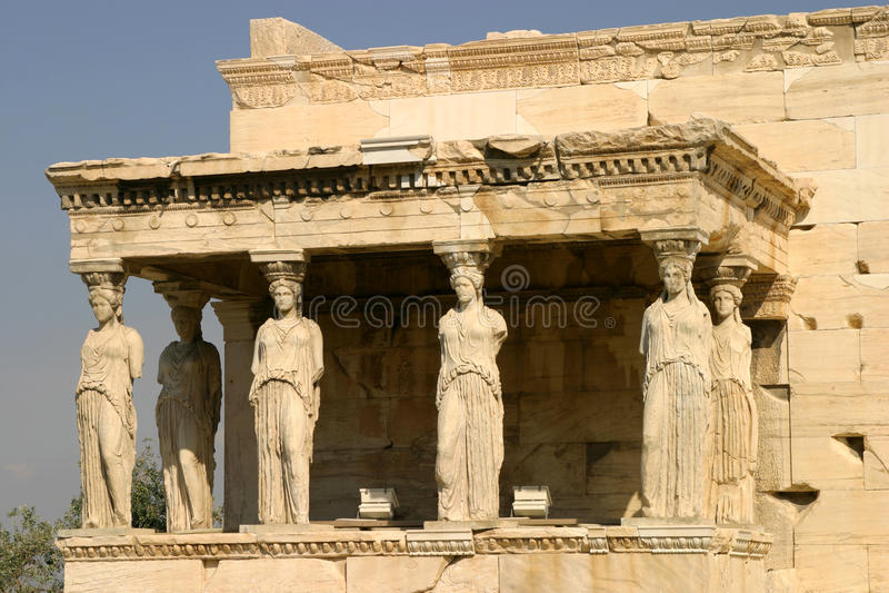 akropolu Athens erechtheum fotografia royalty free