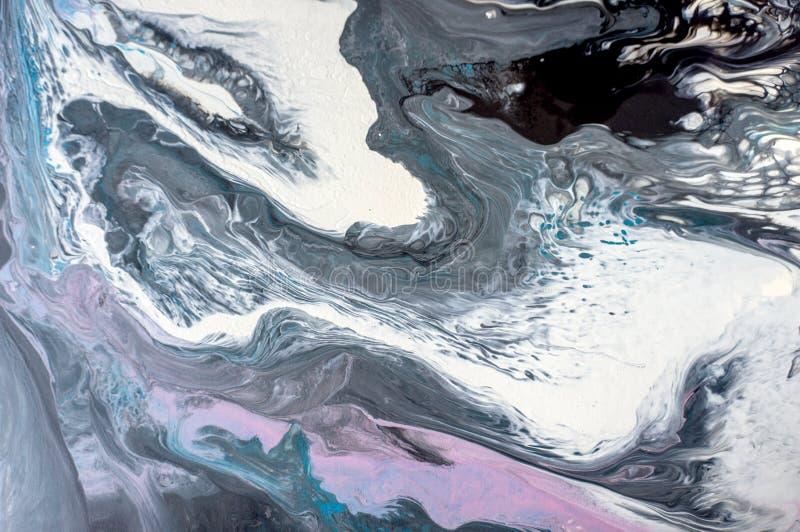 Akryl målarfärg, abstrakt begrepp Closeup av målningen Färgrik abstrakt målningbakgrund Hög-texturerad olje- målarfärg Du kan sät royaltyfria foton