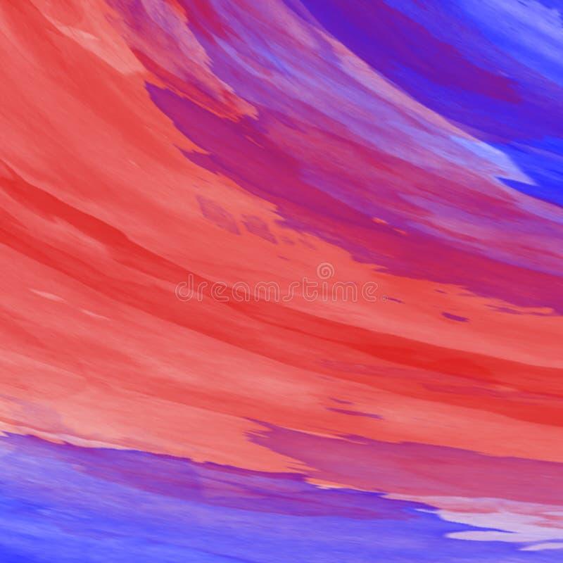 Akrylabstrakt begrepp Closeup av målningen färgrik abstrakt bakgrund stock illustrationer