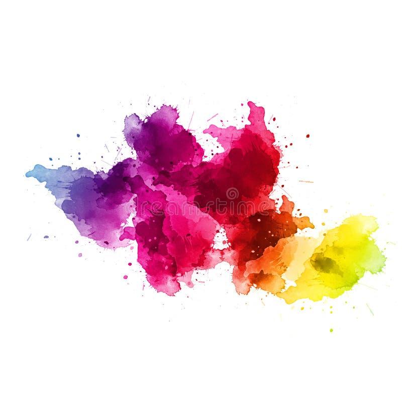 Akrylabstrakt begrepp Closeup av målningen färgrik abstrakt bakgrund royaltyfri illustrationer
