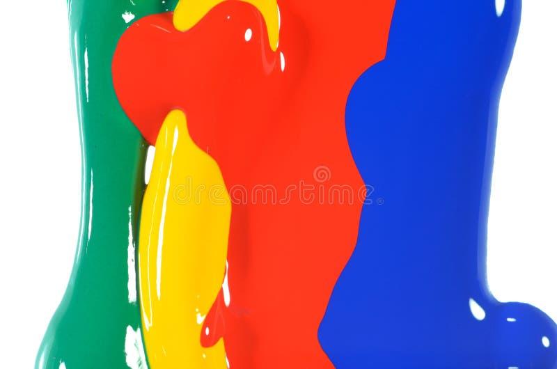 Akrylfärger royaltyfria bilder
